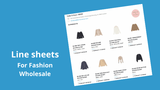 What is a Line Sheet? How can you use one to grow your wholesale sales?